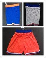 anthony new york - Men Basketball Shorts New York Anthony Smith stoudemire New Orange White Blue New REV Brand Shorts