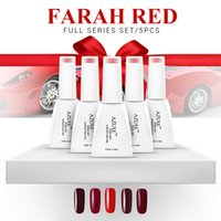 Wholesale Nail Gel Polish UV LED Shining Colorful Farah Red Series soak off Varnish elegant Manicure nail gel Xmas gift