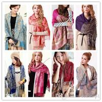 designer wool scarves - Woman winter cotton Tassel scarf fashion silk scarves Lady long shawl more style designer Womens Pashmina valentine s gift