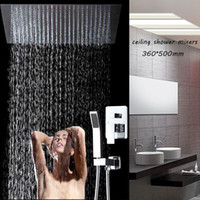 Wholesale embeded ceiling mounted x500mm bathroom hot and cold mixer shower set