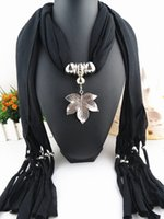 Wholesale Butterfly pendants scarf jewelry New scarf with jewellery cotton soft scarves beads Mix design Colors