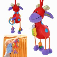 Cheap Hot sale Plush toys for Children Stuffed Animals Christmas Gift Deer Hanging Bell Bed Soft Toys Fashion Kids Red B16