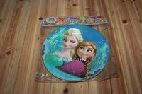 Wholesale 2015 Time limited Limited Placas Decorativas Dishes And Plates Sets Frozen Cake Dish Birthday Party Supplies Children s Paper Plates