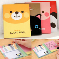 Wholesale Small Cute Animal Sticker Multiuse Bookmark Memo Flags Index Pad Tab Sticky Notes Stationery For School Students