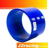 Wholesale J2 RACING STORE BLUE quot mm Straight Silicone Intercooler Turbo Intake Pipe Coupler Hose PQY SH0040