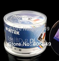 all'ingrosso blue ray disc-freeship BD-R 50G 50 PCS / Pack - RITEK BD-R da 50 GB BDR 1-6X Disco stampabile Blu-ray BD-R vuoto genuino al 100% Ritek (Taiwan)