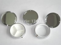 Wholesale Silver Blank Pill Boxes Metal Organizer Box of Medicine Customized DIY Promotion Gifts DHL Free Ship