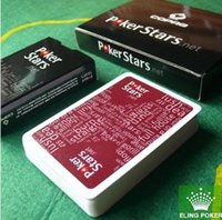 Wholesale 2015 HOT Red and Black Color PVC Pokers for Choosen and Plastic playing cards poker stars