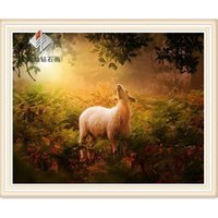 alpaca pictures - Animal Diy Diamond painting forest alpaca diamond cross stitch crystal square diamond home decorative picture Diamond embroidery