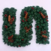 pine cones - 2 m Christmas Tree Decoration Rattan with Pine Cones Hotel Mart Decoration Rattan hjf ld