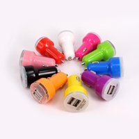 Car Chargers For Nokia New Brand Dual Port USB Car Charger Universal USB Adapter Colorful Car Charger for ipad iPhone 4s 5s 6 samsung s5 DHL free shipping