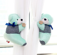 Wholesale window curtain hook tieback cute bear Curtain buckle hangers belt colors x15cm GetUBack CYB56