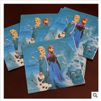 frozen party supplies - Frozen Elsa Anna napkin kid boy girl happy birthday party decoration kits supplies frozen napkin frozenc1642