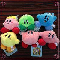 mario plush - 3 quot cm Nintendo Super Mario Bros Kirby Plush Doll Stuffed Animals Soft Kids Toys Kawaii Stuffed Baby Toy