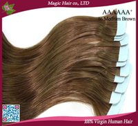 Cheap Straight remy tape hair extension Best Under $30 No Shedding No Tangle No Lice skin weft hair extensions