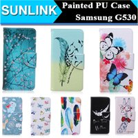 bear phone covers - Painted Flowers Butterfly Bear Giraffe PU Leather Stand Wallet Case Pouch Don t Touch My Phone Cover for Samsung Galaxy Grand Prime G530
