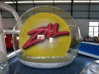 Wholesale high quality inflatable snow globe inflatable snow ball clear show ball for holiday decoration and advertisng