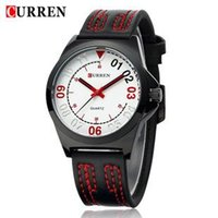 Wholesale Fashion CURREN mens watches luxury silicone waterproof sports Japan Movt military relogio masculino reloj hombre montre homme