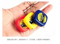 Wholesale Mini M Tape Measures Small Steel Ruler Portable Pulling Rulers With Key Chain Gauging Tools Travelling Measurentment Tools JZ T01