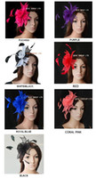 Wholesale Simple Sinamay Fascinators for kentucky derby melbourne cup wedding black white coral red royal black hot pink purple