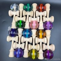 Cheap 20 PCS New arrivals Free shipping crystal ball kendama Game Kids toy handle Made of Beech