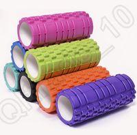 Wholesale HHA535 Yoga Foam Roller Exercise Trigger Point GYM Pilates Texture Physio Self Muscle Massage Fitness Training High Density x14CM PVC EVA