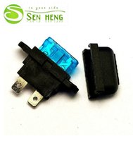 Wholesale Medium Size Car Fuse Clip Fuse Holder Waterproof Fireproof Truck Blade ATC Fuse Holder Block Cove