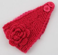 Wholesale Blanks Winter Women Knitted Headband Ear Warmer Crochet Head Wrap in Colors DOM106215