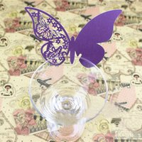 best party place - Best EA14 Butterfly Place Escort Wedding Party Wine Glass Paper Card Purple