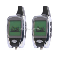 alarms pagers - Quality universal LCD two way scooter motorcycle alarm system W remote engine start amp shock sensor LCD pager car