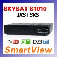 Wholesale 1pc Genuine AZSAT SKYSAT S1010 TWIN Tuner DVB S2 IKS SKS IPTV Satellite Receiver South American better than azamerica D0270