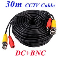 Wholesale 5m m m m m m ft ft ft DC BNC port video power supply cctv coaxial cables security camera DVR install surveilllace wires
