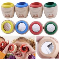 baby effects - Hot Sale ABS Wooden Bee eye Effect More Magic Kaleidoscope Explore Baby Kid Interesting Children Education Learning Puzzle Toy