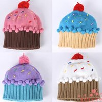 baby cupcake beanie - Cupcake Beanie Hat for children colorful candy fashion kids hat RAINBOW BABY winter knitted hat winter warm Accessories