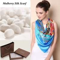 Wholesale Pure Silk Square Scarf Luxury Women Shawl Winter NEW Colors Christmas Best Gift for Women