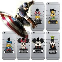 apple wanted - Mickey Minnie Mouse wanted Transparent Cases For Iphone S S Cartoon Soft TPU Silicone Gel Rubber Clear Crystal Phone Skin cover
