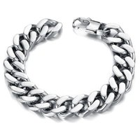 bicycle jewellery - PUNK Biker L STAINLESS Steel Mens Bracelet Bike Bicycle Chain Bracelet mm thicker width Jewellery GS720