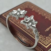 Wholesale The Lord of the Rings The Hobbit Elf Evenstar Crystal Cuff For Women Hot Movie Elegant Unique Fashion Cuff Jewelry Good Gift