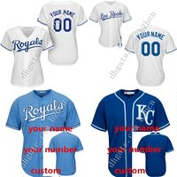 custom baseball jersey - Custom kansas city royals Women Authentic Alternate Baseball Jersey Personalized any name and number stitched Embroidery logos S XL