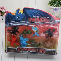 PVC train set - NEW Arrival set cm How to Train Your Dragon PVC Action Figures Toy Doll Night Fury toothless dragon