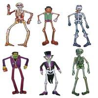 background maker - cm Halloween Haunted House Bar Supplies Paper Skeleton Terror Scene Maker Stage Background Skeleton Hanging Decoration