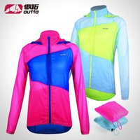 Wholesale 2015 OUTTO Spring Women Breathable Running Rain Jacket Waterproof Bicycle Jacket Mens Cycling Jacket UV Protection MTB Bike Coat