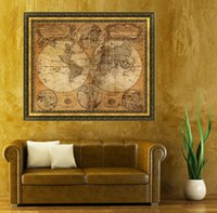 Wholesale Vintage Style Retro Cloth Poster Globe Old World Nautical Map Gifts