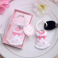 Wholesale New arrival wedding favors Baby Shower Favors and Gift Cute Baby Themed Pink Key Chain Favors for girl