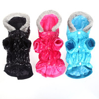 dog coats - Waterproof Warm Pet Dog Clothes Apparel Hoodie Hooded Coat for Winter H9994