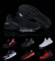 Wholesale 2015 Classic Black White Air Huarache Men Womens Running Shoe Black Red White Sneaker Breathable Huaraches Size US5