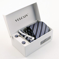 100% wool suits - 6Sets Set Silk Ties Men s Black Tie Dress Vest And NeckTie Set Party For Suit Or Tuxedo With Gift Box