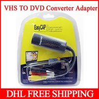 Wholesale Easycap DC60 USB Video TV DVD VHS Audio Creator Capture Adapter Support For Windows ME XP bit bit