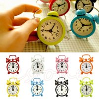 Wholesale New Home Outdoor Portable Cute Mini Cartoon Dial Number Round Desk Alarm Clock
