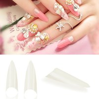 Wholesale 500pcs Manicures DIY Acrylic French Half False Nail Art Tips Natural For Makeup Beauty Sizes